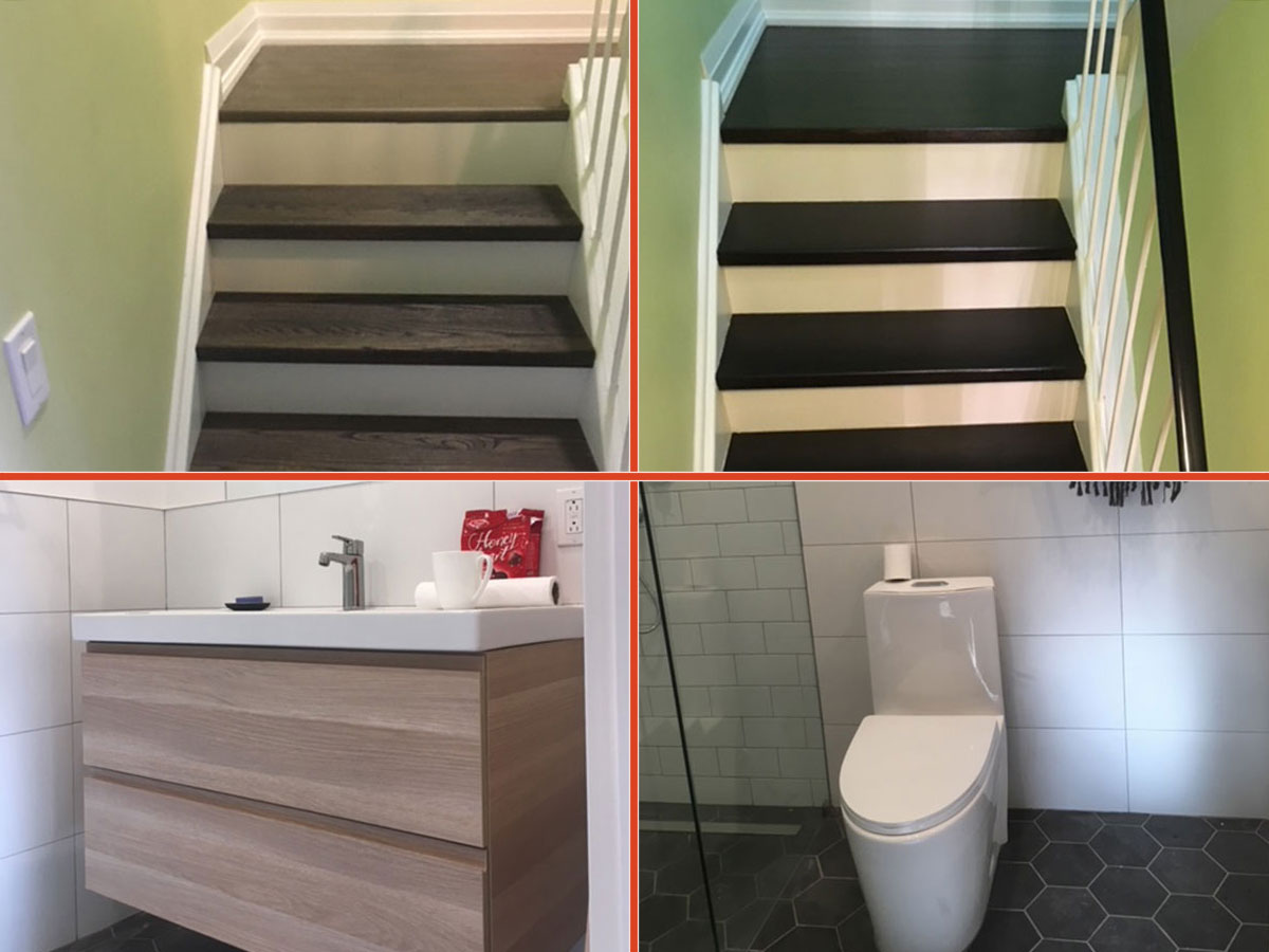 staircase and washroom renovations
